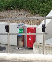駐車場の防犯対策、赤外線センサー