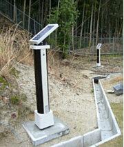 ソーラー電源を利用した監視・警報システム