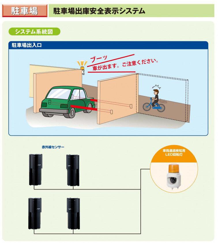駐車場出庫安全表示システム